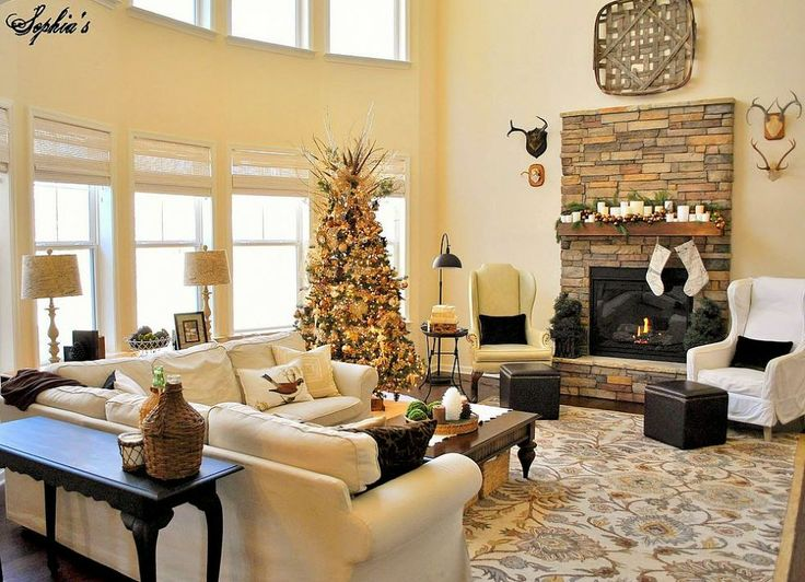 Great Room Rustic Christmas