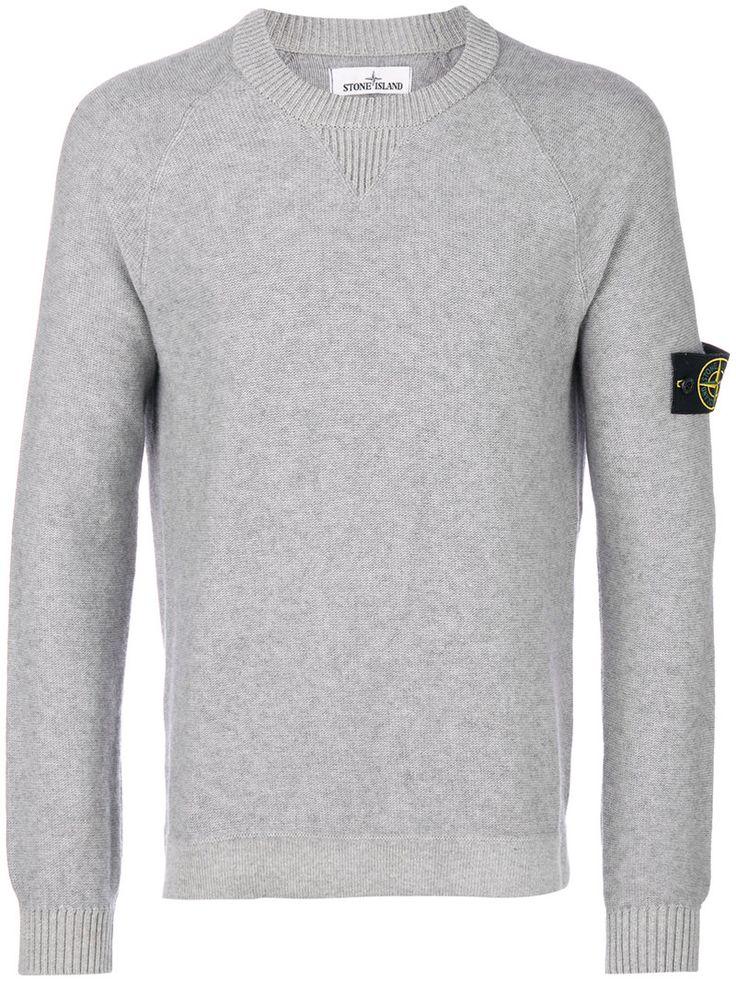 STONE ISLAND STONE ISLAND - LOGO PATCH CREW NECK SWEATER . #stoneisland #cloth #