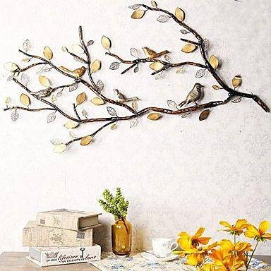 metalen kunst aan de muur schoonheid vogels&bloeit kunst aan de muur - EUR € 90.90