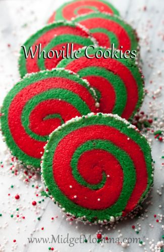 whoville cookies are easy to make and they are so festive for the holidays! You can change the colors if you want to as well to make them what ever color your want to. These are fun christmas cookies that kids and adults will both love and they are a great christmas cookie recipe