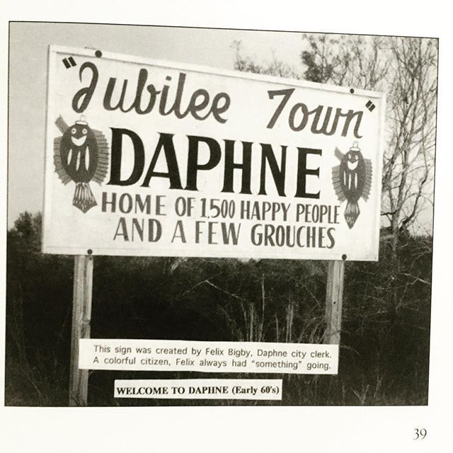 Welcome to Daphne! I'll be sharing the story of the jubilee phenomenon with you guys tomorrow.  #theserpentsofbienville #alabama #daphne #baldwincounty #alabamahistory #explorealabama