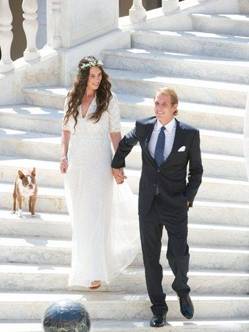 Tatiana Santo Domingo and Andrea Casiraghi wedding