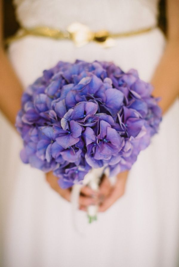 purple hydrangea bouquet // photo by JessicaWatsonPhotography.com