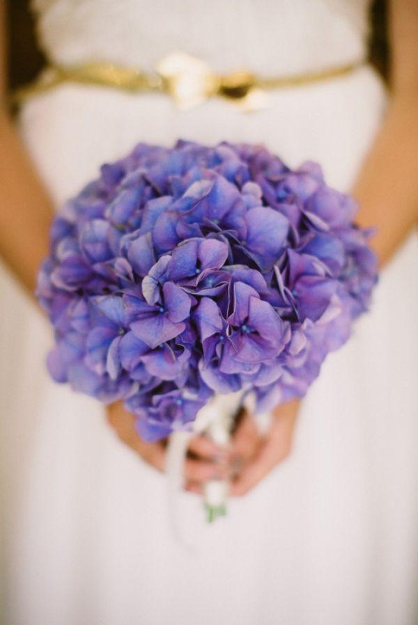 purple hydrangea bouquet // photo by JessicaWatsonPhotography.com