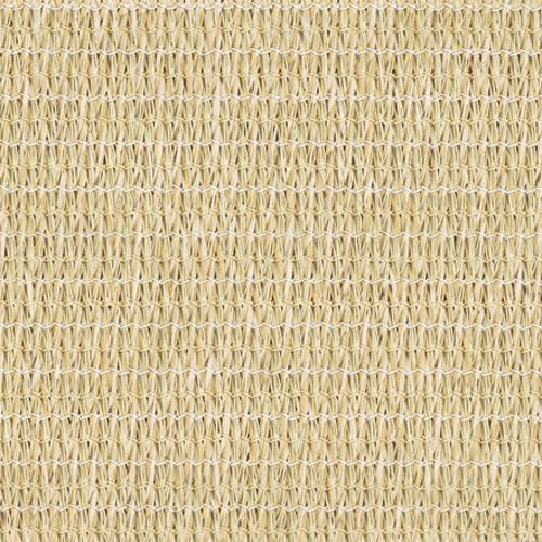 Coolaroo Sun Shade Mesh Fabric 90% UV Block Wheat Color - Sample Swatch. 90% UV Black Coolaroo shade fabric provides a comfortable, relaxing place in summer. Allowing air to go through, Coolaroo shade fabric reduces the temperature by up to one third.