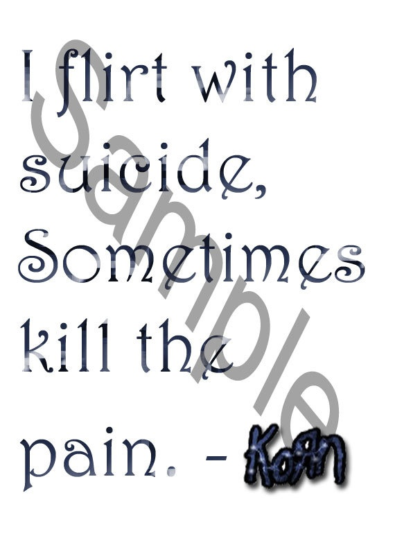 Korn Lyrics Image for Iron on Transfers and More by DarklyDigital, $4.20. Omg i need this!!