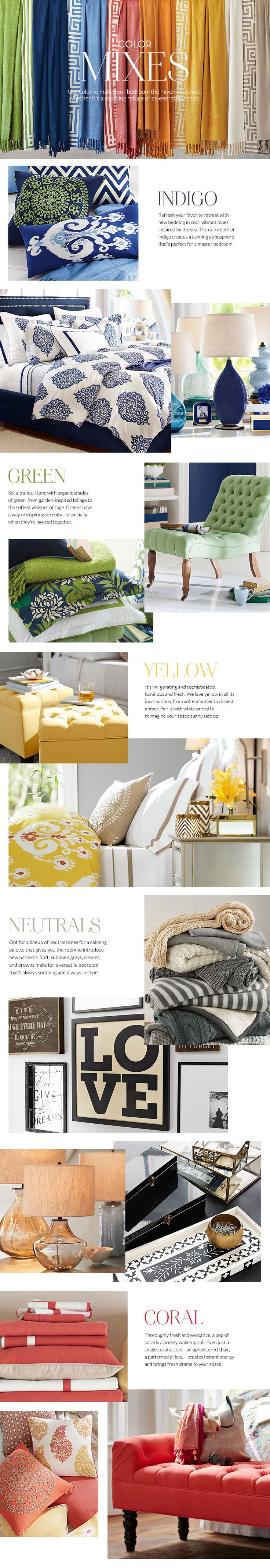 Use bright colors in cheerful hues to turn your bedroom into the haven you crave!