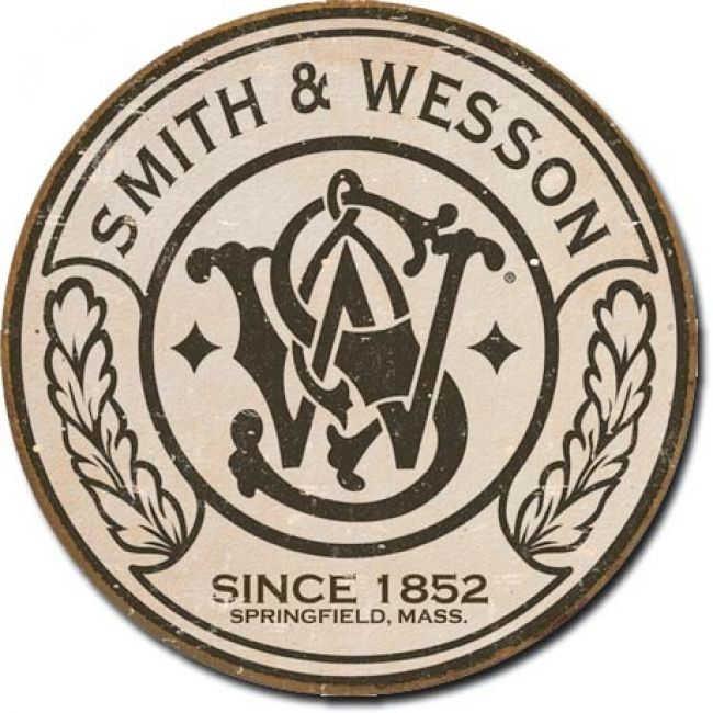 Smith and Wesson Round Tin Sign - American Expedition