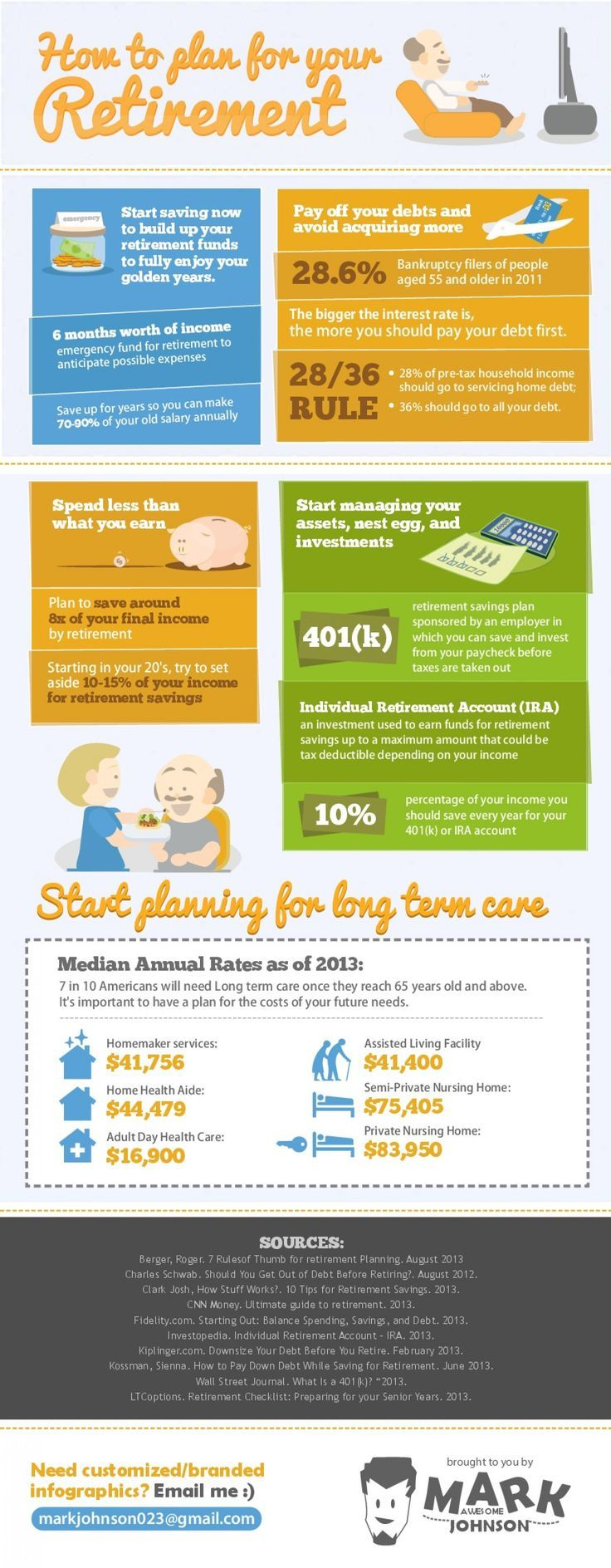 How to plan for retirement [infographic]