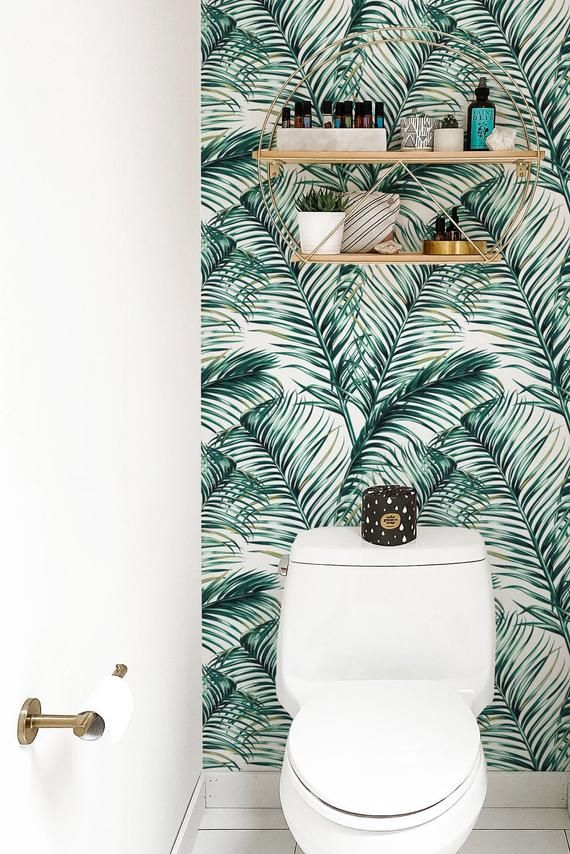 Green Watercolor Leaves Removable Wallpaper Self Adhesive Etsy In 2020 Leaf Wallpaper Removable Wallpaper Standard Wallpaper