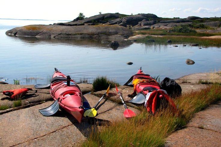Kayaking in Åland islands, Finland