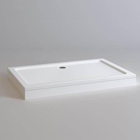 1400x900mm Rectangular Easy Plumb Stone Shower Tray - soak.com    £200