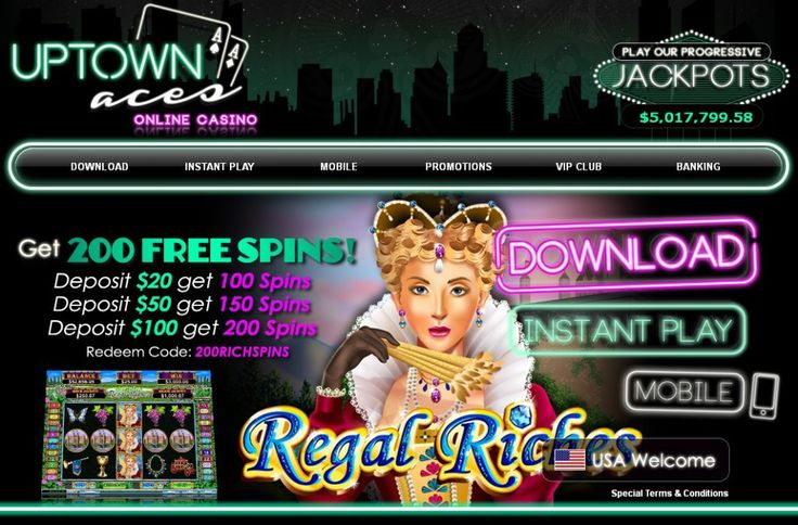 Free Slot Spins at Uptown Aces Casino. #Casino #Online #Gambling 200 #Free #Slot #Spins at Uptown Aces Casino