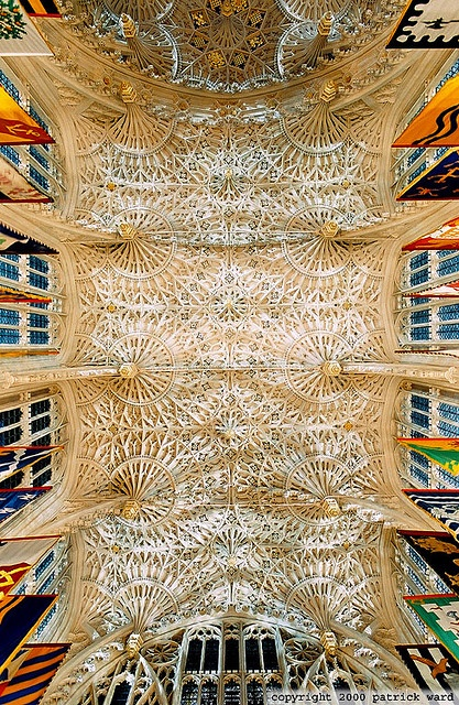 ceiling of Lady Chapel at the Westminster Abbey. I saw this through a mirror when i visited and the sight was amazing. I wish I could have taken a picture...