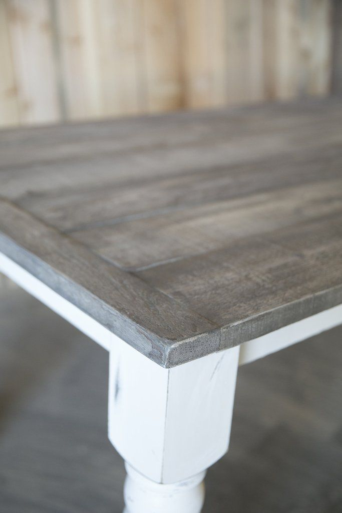 Gray Plank Farmhouse Table Grey Dining Tables Painted Kitchen