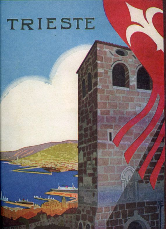 Vintage Travel Poster Trieste Italy 1935