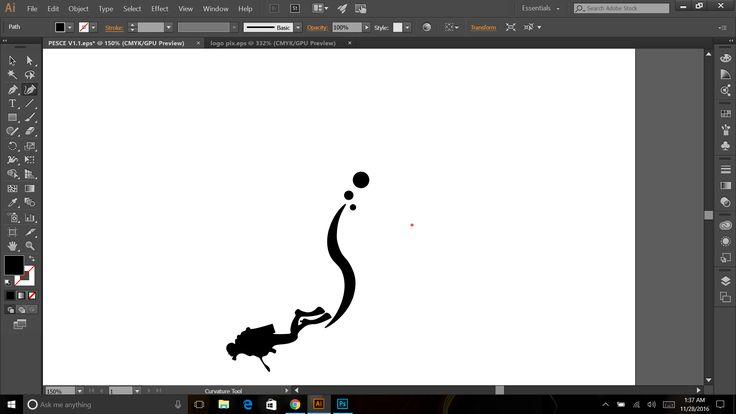 Pesce logo process 3
