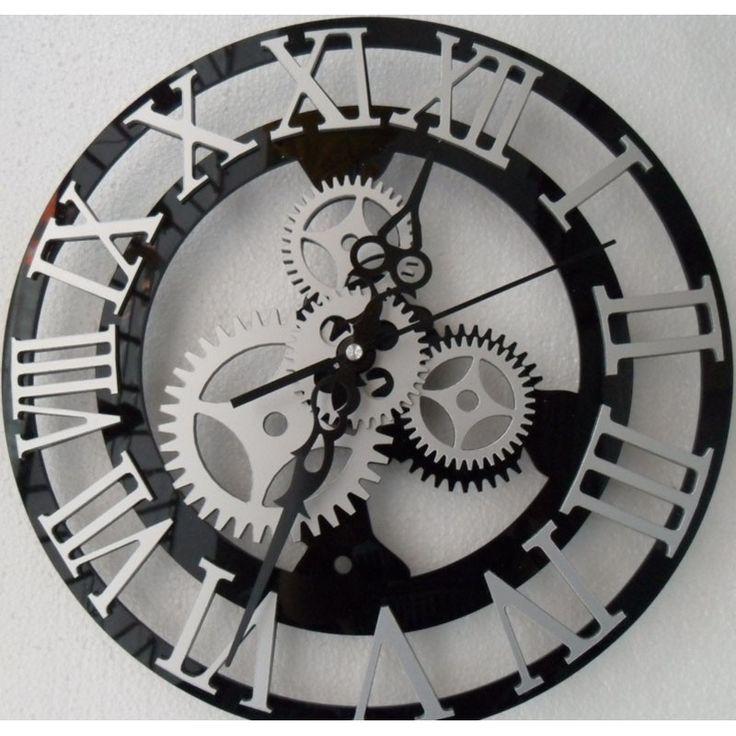 roman numeral mechanical gear clock mechanical gears