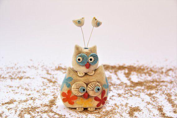 Image 0 Owl Kitchen Decor Handmade Home Decor Colorful Ceramics