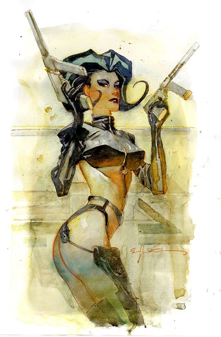 Aeon Flux by Bill Sienkiewicz *