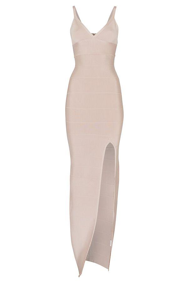 Luxe Nude Bandage Maxi Dress
