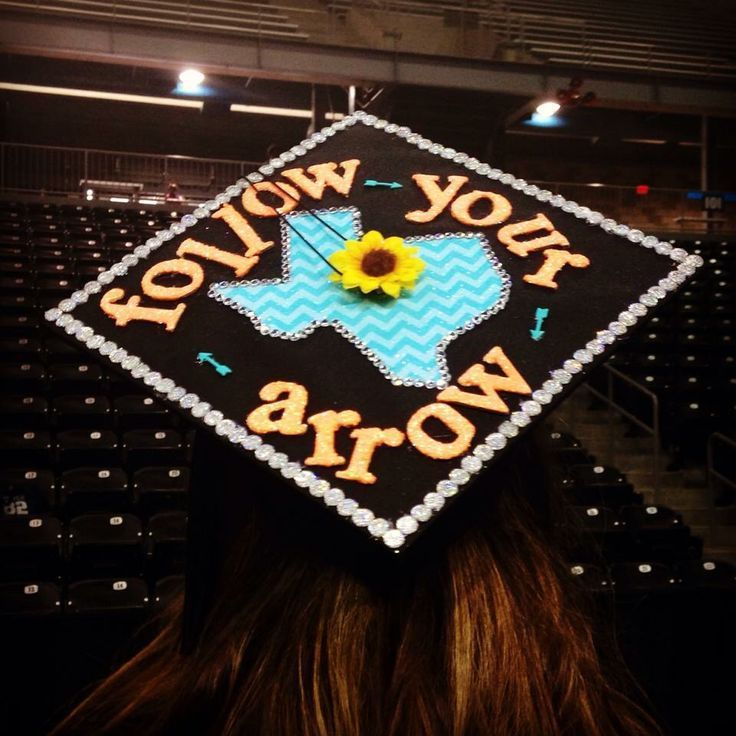 Graduation Cap Kacey Musgraves Obey Your Arrow Graduation Graduate 2014 Texas Sunflower Arrow Girl Ideas Craft Senior Graduation Ceremony Turquoise Gr...