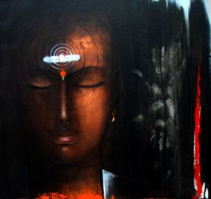 Check out this Acrylic on canvas and Painting by Joldapage Suryanarayan of 30 x…
