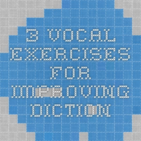 improving your diction Video created by university of maryland, college park for the course interview  research and preparation in this module, you'll learn how to control your use of .