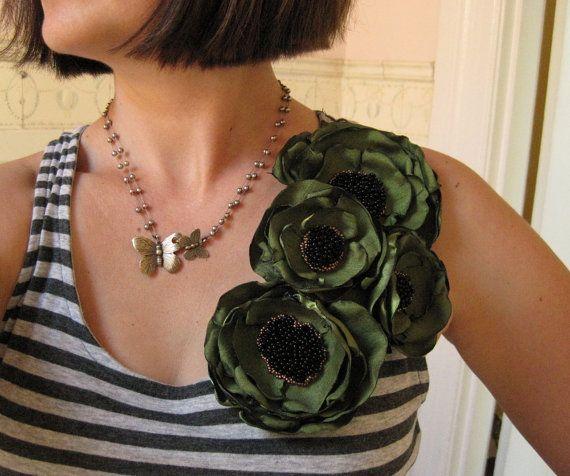 stof bloem broche Made To Order corsage door MariaLouiseHightoo