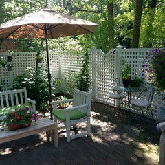 127 best small yard ideas images on pinterest - Patio Fencing Ideas