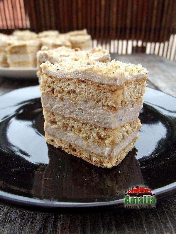 Prajitura cu crema de nuca si miere 0