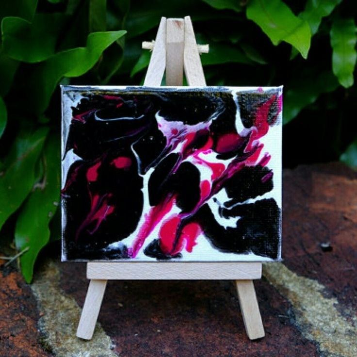 "Introducing ""Glimpse of Hope"". By Tracey Lee Art Designs   8cm x 10cm mini canvas & easel.  Perfect to sit on a desk or shelf and look at when you need to remind yourself when you are having an average day that  there is always a glimpse of hope for the day to turn out magical."