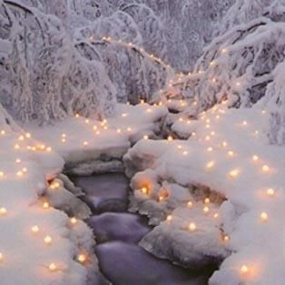 This is a beautiful #snow scene... I want to do this next time it snows!