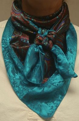 Buy 2 or more scarfs and save $2.00 per scarf! 25% GROUP DISCOUNT! Cowboy Images offers a heavier weight scarf with Floral silk designs, cowboy silk designs, paisley silk designs and abstract silk designs and an array of jacquard colors. … Continue reading →