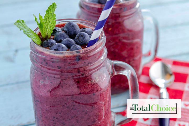 Wrap yourself in a fruity blanket of flavors as your sip this smoothie. Eat this recipe on the 1200-calorie Total Choice plan.
