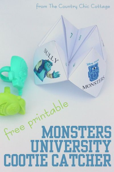 Grab your free printable Monsters University Cootie Catcher here then use it to celebrate when you go watch the new movie in theaters! #mujuice #shop #cbias