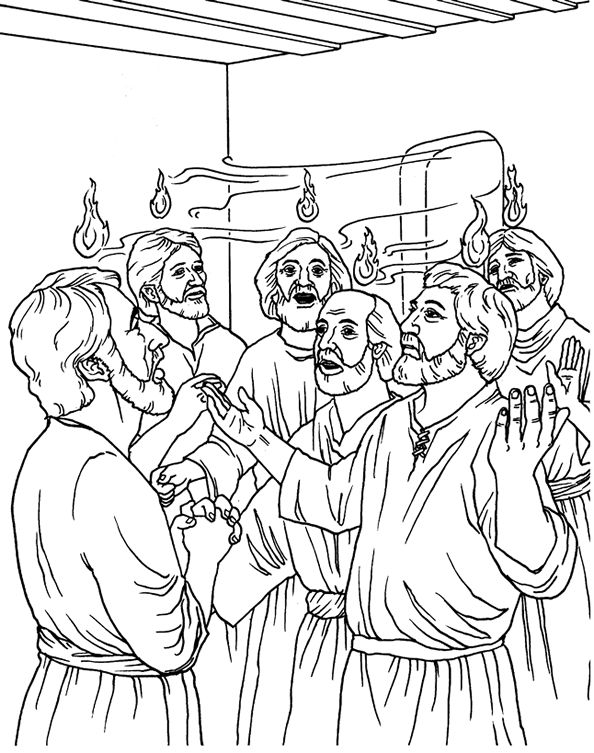 The Day of Pentecost - Coloring Page