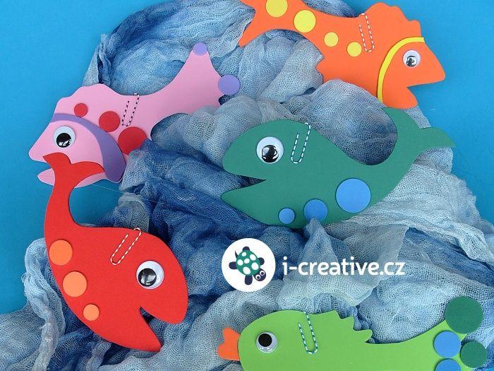 tvoření z moosgummi - chytání ryb