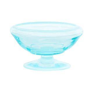 Teal Glass Pedastal Bowl #Chairish
