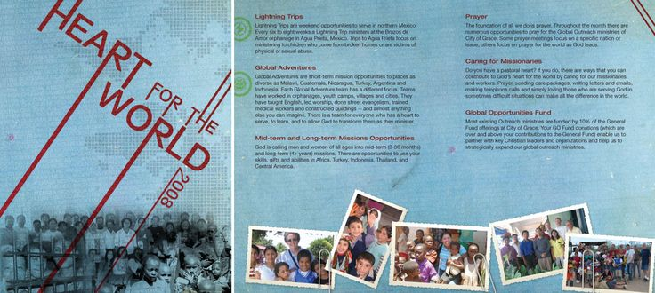 A small booklet created for our Heart for the World campaign in 2008. City of Grace Church