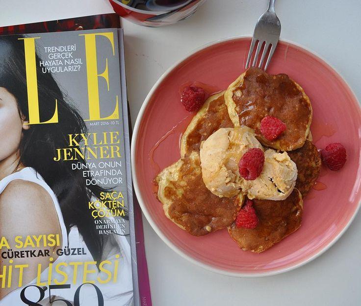 En güzel mutfak paylaşımları için kanalımıza abone olunuz. http://www.kadinika.com Günaydııın  Üç malzemeli pancake tarifini dün yaptığım yer fıstıklı dondurma ve balla birleştirince ortaya enfes bir sonuç çıktı  Pancake tarifi: 1 orta boy muz 2 yemek kaşığı un 1 büyük boy yumurta  Yapılışı: Küçük bir kapta muzu çatalla ezin. Unu ve yumurtayı ekleyip çatalla iyice birbirine karıştırın. Pancake tavanızı yağlayın ve bir yemek kaşığı pancake karışımından dökün.Kabarcıklar çıkmaya başlayınca…