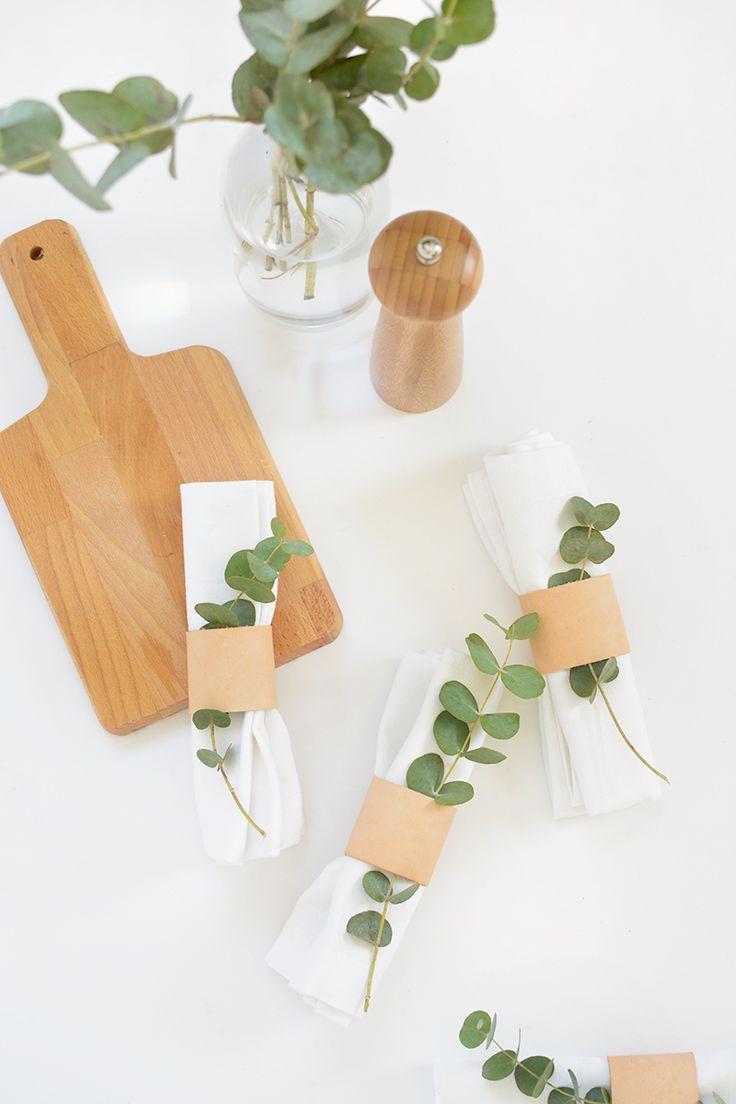DIY   leather napkin rings @burkatron