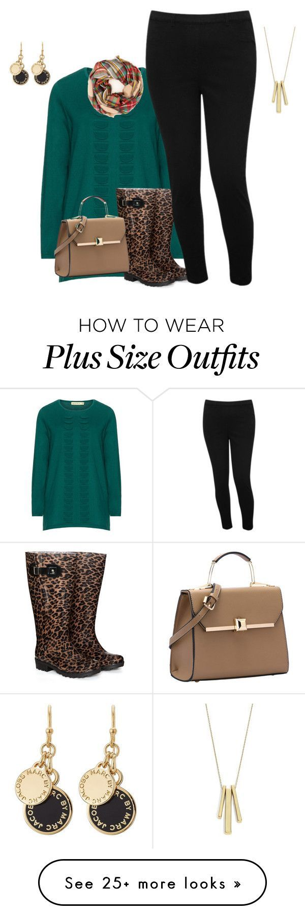 "I like this ""plus measurement fall/winter boot and sweater type"" by kristie-payne on Pol..."