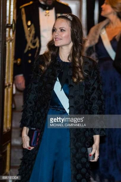 Princess Sofia of Sweden attends a formal gathering at the Swedish Academy on December 20 2017 in Stockholm Sweden
