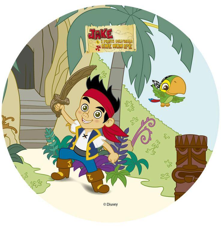 Disque en azyme Jake le pirate - Annikids