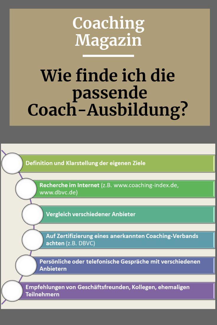 Die passende Coach-Ausbildung finden
