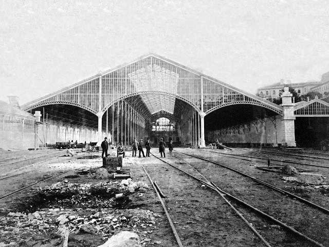 Estação do Rossio, fase de construção