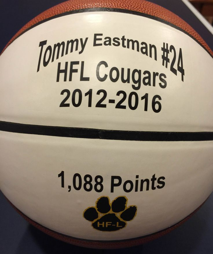 Celebrate an accomplishment with a personalized basketball keepsake done by Get on the Ball Photos.