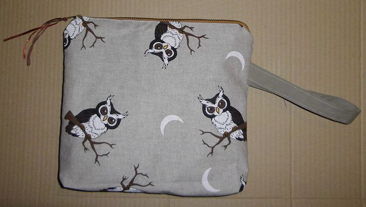 Owls - project bag / pouch