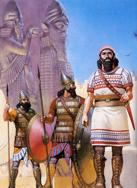 Angus McBride - Guardias reales asirios, siglo VII AC